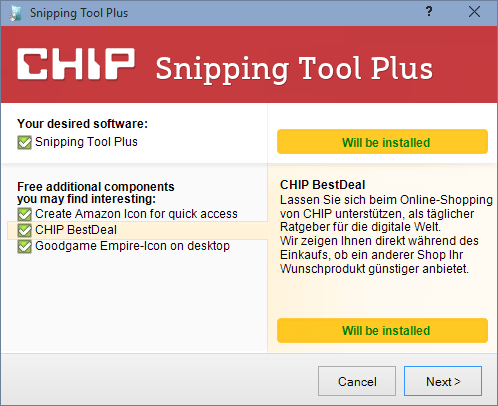 CHIP Installer installiert Malware
